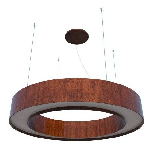 Pendente Lustre Anel Madeira 70cm - Foxlustres