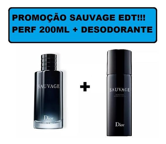 Dior Sauvage Edt 200ml + Desodorante 150ml + Brinde
