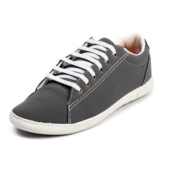 Sapato Tenis Sapatenis Masculino Sintético Cinza