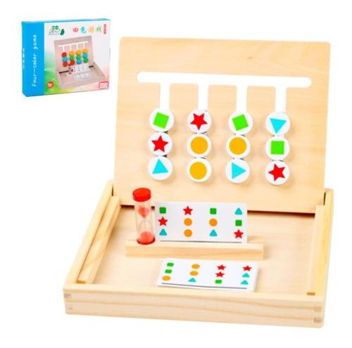 Cuatro Colores Juego Montessori