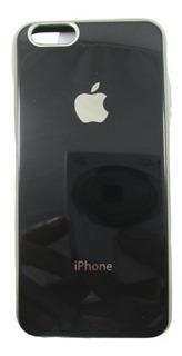 Capa Carcaça Logo iPhone 6 6s 4.7 Rose Gold Preta + Pel Gel
