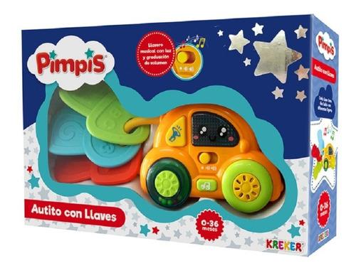 Imagen 1 de 4 de Autito Con Llaves Pimpis 0-36 Meses Kreker E.full