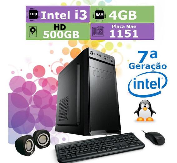 Pc Home 7ª Geração I5 7400 4gb Hd 500gb Teclado Mouse Cx/som
