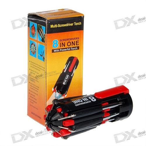 Lanterna Ferramenta Muli-screwdriver 8 Em 1