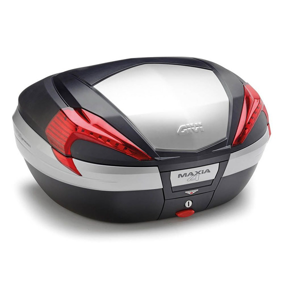Bau Maxia 4 Capa Preta Acabamento Aluminio Givi V56n
