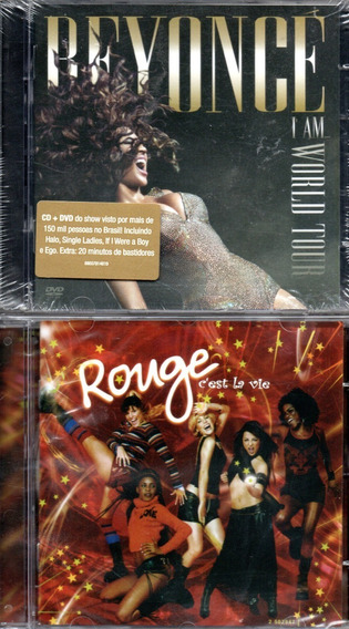 Cd + Dvd Beyonce - I Am World Tour + Cd Rouge Cést La Vie