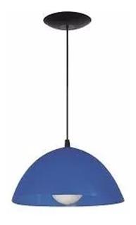 Colgante De Pvc Ø260mm E27 (apto Led) C122 Azul Ferrolux