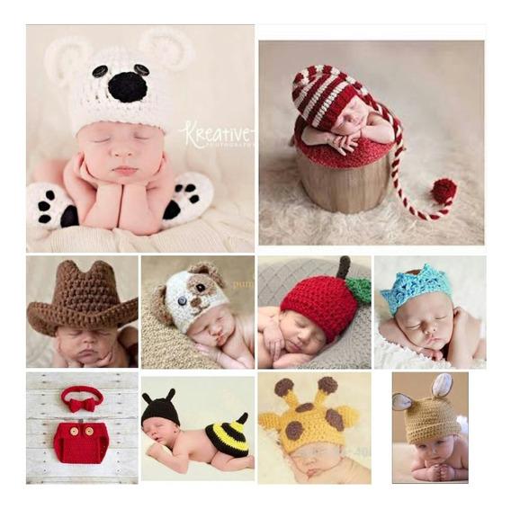 Kit 10 Newborn Menino Foto Crochê