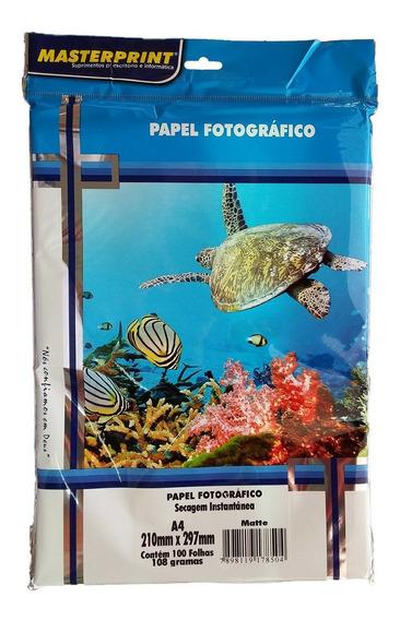 Papel Fotográfico Matte Masterprint A4 108 Gramas 300 Folhas