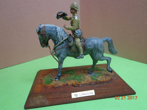 Figuras Metalicas Militares Jinete Lancero