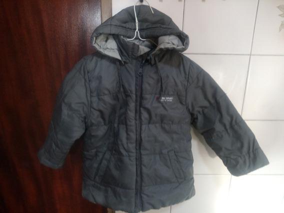Campera Niño-abrigo,gris,reversible Con Cap Desm- Mimo Sport
