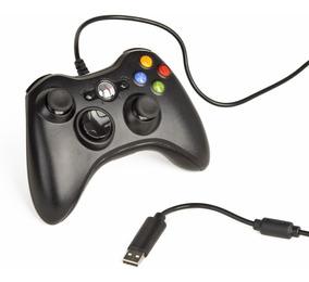 Controle Com Fio Xbox 360 Slim Joystick Computador E Pc