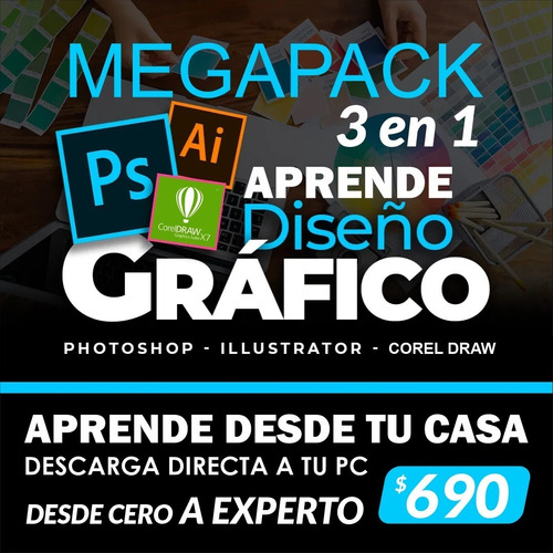 Conviertete En Diseñador Gráfico Profesional Desde Tu Casa!