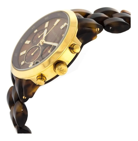 Relógio Michael Kors Chron Anal Tortoise Mk5216
