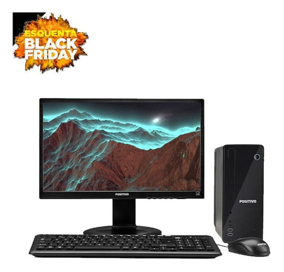 Computador Positivo Completo 4gb 320gb Monitor Black Friday