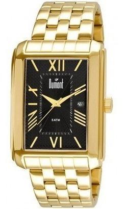 Relógio Masculino Dourado Original Barato Dumont