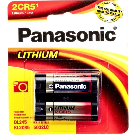 Bateria 2cr5 6v Panasonic - 01 Unidade - Original