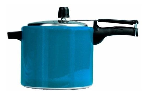 Panela De Pressão 4,5 Litros Mr. Cook Alumínio Azul