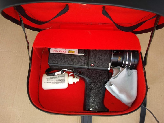 Camera Super 8 Raynox Xl-303 + Spot De Luz + Case De Couro
