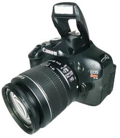 Câmera Canon +carregador+alça+lente 18-55mm Usado Perfeita