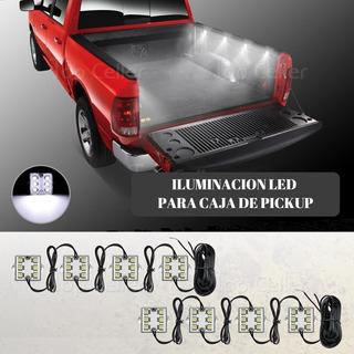 Kit De 8 Luces Led Para Caja De Camioneta Pickup Contra Agua