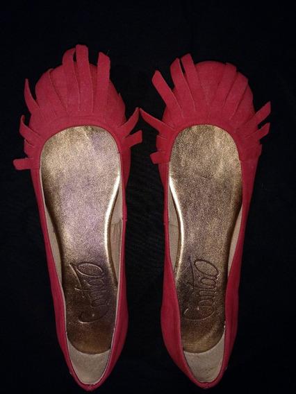 Sapatilha Cantão Vermelha Com Franjas - Nº 34