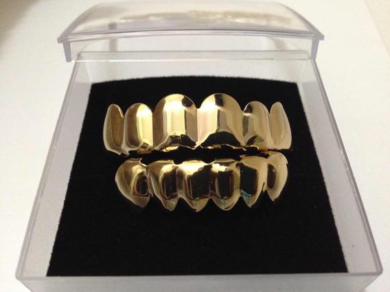 Grillz Dourado Luxo Pronta Entrega