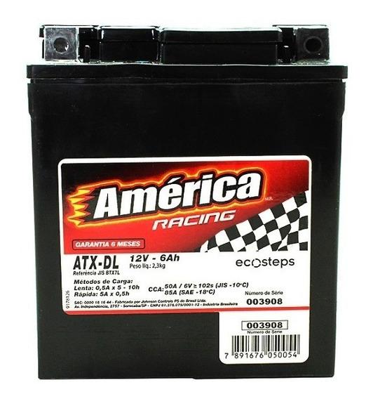 Bateria De Moto América Racing - 6ah Atx-dl - Selada