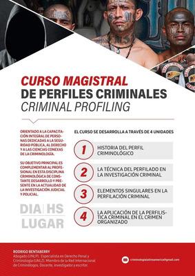 Curso De Perfiles Criminales.criminal Profiling. Presencial