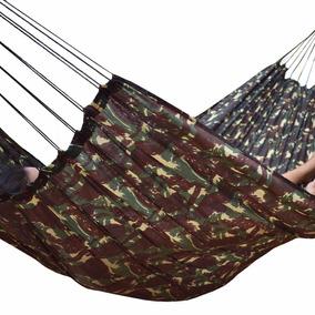 Rede De Dormir Camuflada Garimpeira Grande Exercito Descanso