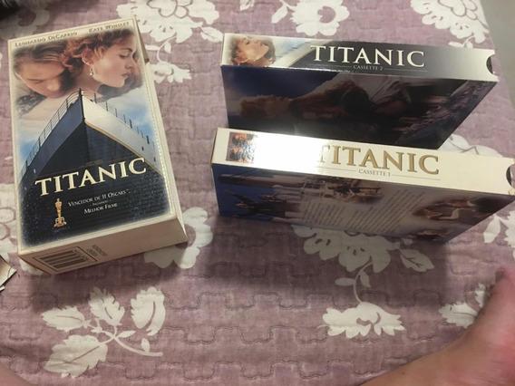Fitas Vhs Titanic-kit Em Vhs Com Duas Fitas Versão Original