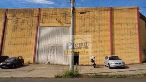 Galpão  Comercial Para Locação, Parque Industrial Recanto, Nova Odessa. - Ga0025