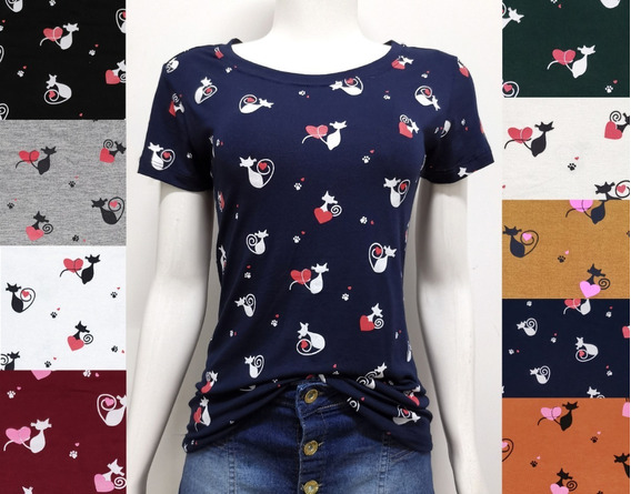 C/3 T-shirts Blusas Feminina Roupas Atacado Revenda
