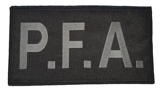 Badana Bordada Baja Visibilidad Policía Federal Pfa Espalda