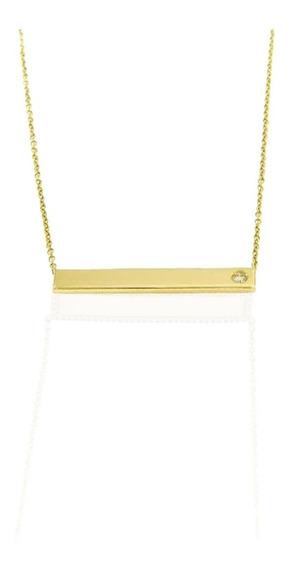 Gargantilla Oro 14 K Con Diamante Natural De 0.4 Ct