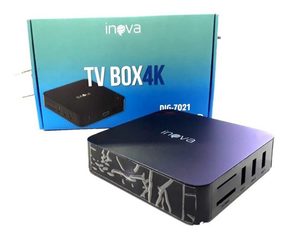 Conversor Digital Tv Box 4k Dig-7021 Inova Tv Box 4k Inova T
