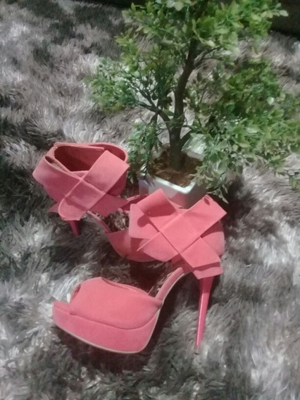 Sandalias Color Coral Brasilera Di Cristalli Un Solo Uso