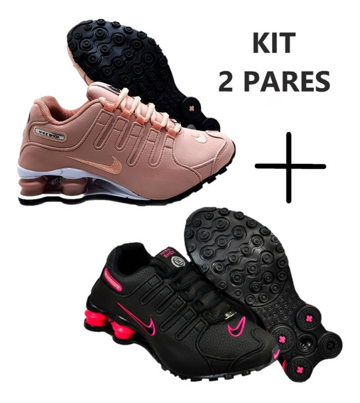 Kit 2 Pares Sxhox Feminino 4 Molas Super Promoção Original