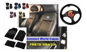 Kit De Capa De Banco Couro Automotivo Gol Bola 97