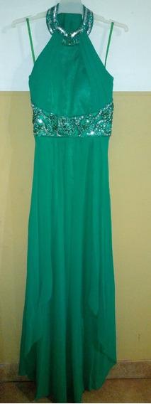 Vestido De Fiesta Largo Verde Esmeralda $2500