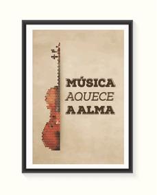 Pôster Musica Aquece A Alma - Pequeno