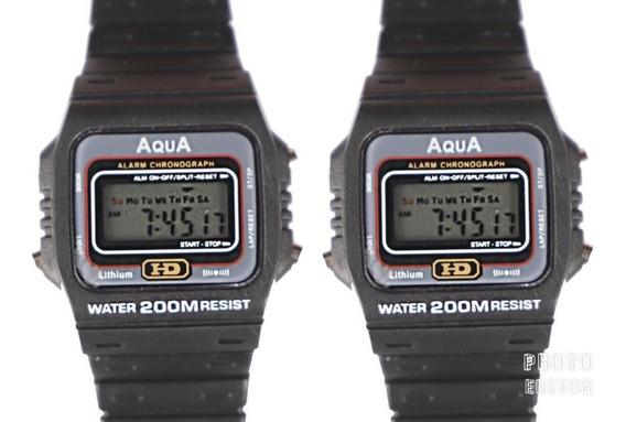 Kit 2 Relógios Masculino Aqua Aq 37 Modelo Novo Promoção