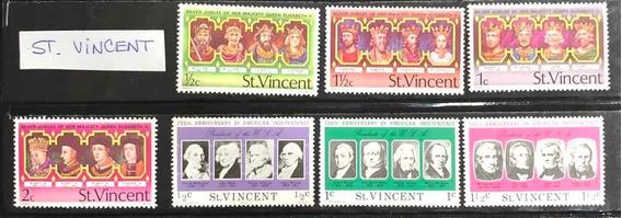 Estampillas St Vincent Lote De 7 Nuevas Impecables!!