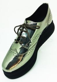 f7c138bbe6 Sapato Oxford Feminino Prata Barato Lialine Na Li   Ca 8407s