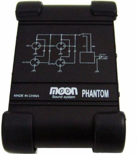 Fuente De Alimentación Phantom Moon +48v Mic Condenser 2ch