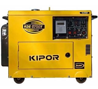 Grupo Electrogeno Kipor Kde 6700t Monofásico Cabinado