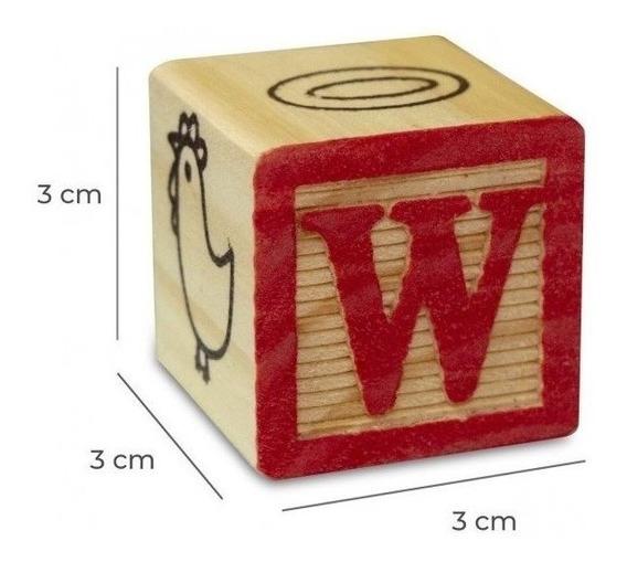 Dados Bloques Cubos De Madera Letras Y Numeros Didácticos