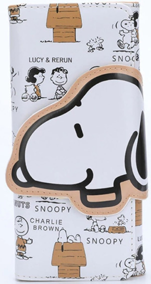 Carteira Feminina Snoopy E Amigos Compacta Master Coleção
