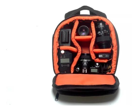 Mochila Case Fotografia Câmera Digital Canon Ou Nikon
