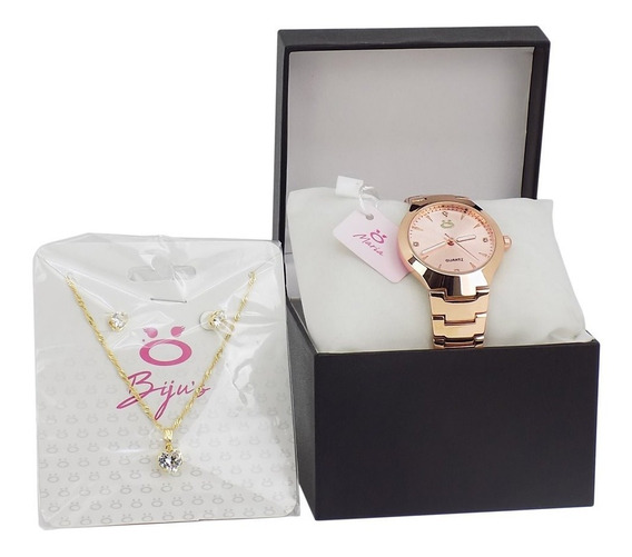 Relógio Feminino Orizom Em Aço Original